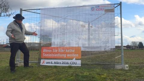 Das umstrittene Wahlplakat der CDU Rodgau