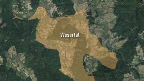 Karte von Wesertal