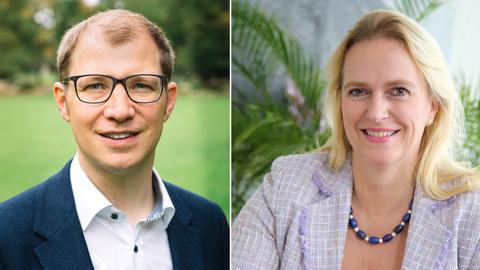 Jan Weckler (CDU), Stephanie Becker-Bösch (SPD)