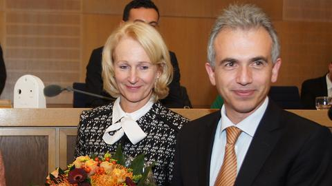 Bernadette Weyland und Peter Feldmann