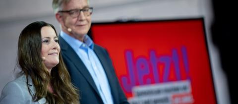 Janine Wissler und Dietmar Bartsch sind das Spitzenduo der Linken für die Bundestagswahl