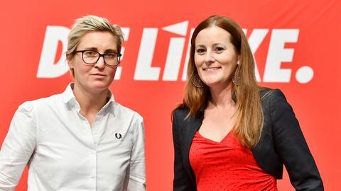 Wollen das neue Linken-Bundesvorsitzenden-Duo werden: Susanne Hennig-Wellsow (l.) und Janine Wissler.