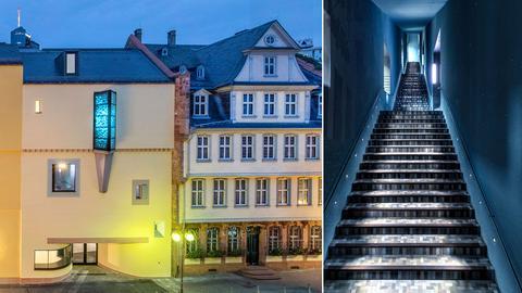 Kombo-Aussenansicht mit Treppenhaus innen