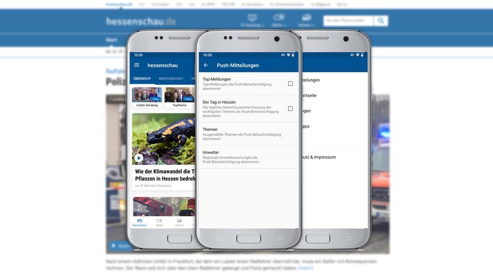 Push-Nachrichten in der hessenschau-App