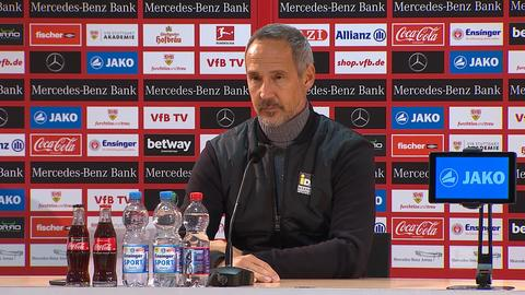 Adi Hütter nach dem Spiel gegen Stuttgart