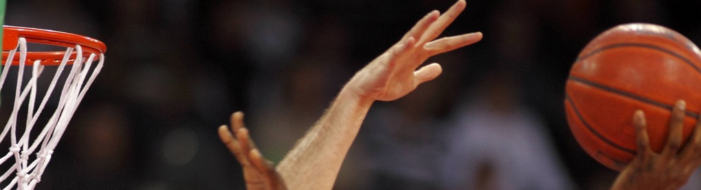 Eine Szene aus einem Basketball-Spiel