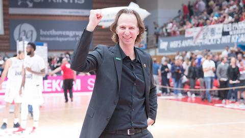 Trainer Ingo Freyer erlebt mit den Gießen 46ers einen Höhenflug.