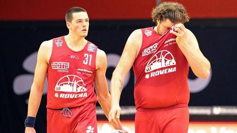 Spieler der Gießen 46ers sind enttäuscht nach einer Niederlage