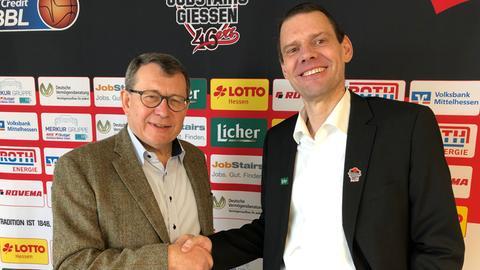 Michael Koch bei seiner Vorstellung in Gießen