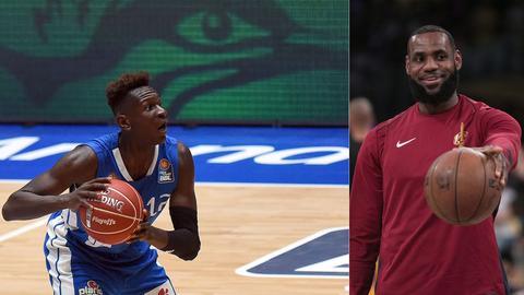 Isaac Bonga und LeBron James