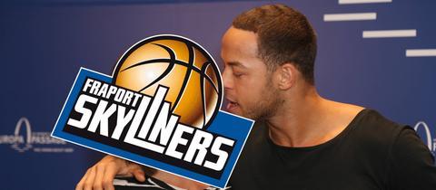 Montage: Der Bachelor küsst das Skyliners-Logo