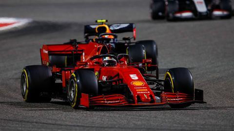 Sebastian Vettel in Bahrain