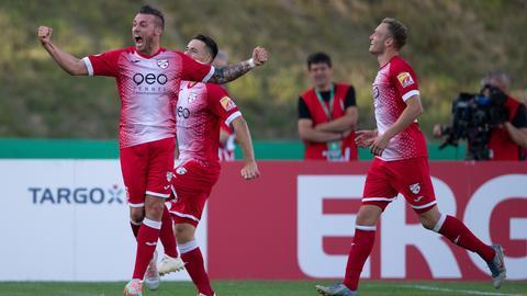 Nico Schrader bejubelt seinen Treffer gegen den VfL Bochum