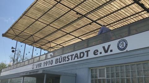 Tribüne in Bürstadt