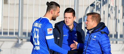 Markus Anfang und Serdar Dursun vom SV Darmstadt 98