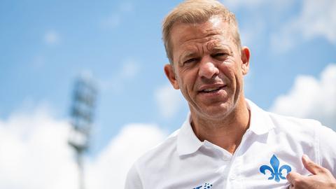 Lilien-Trainer Markus Anfang bei seiner Vorstllung
