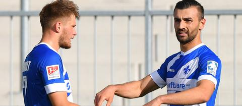 Serdar Dursun und Lars Lukas Mai jubelten letzte Saison noch gemeinsam.