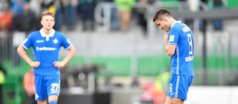 Profis des SV Darmstadt 98 nach der Pleite in Fürth