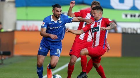 Serdar Dursun vom SV Darmstadt 98 im Spiel gegen Heidenheim