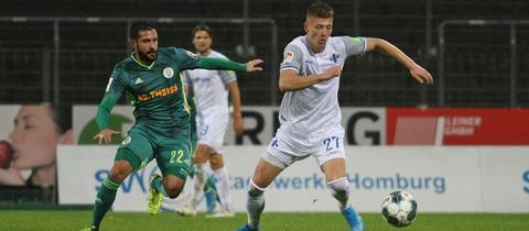 Tim Skarke vom SV Darmstadt 98 im Test gegen Homburg