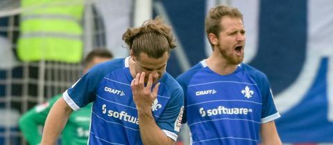 Enttäuschte Darmstädter in Ingolstadt