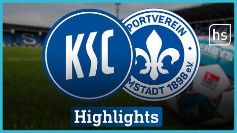 Die Logos von Karlsruhe und Darmstadt