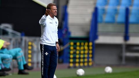 Lilien-Trainer Markus Anfang steht vor seinem Pflichtspieldebüt.