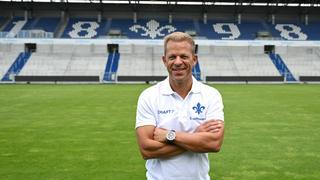 Lilien-Trainer Markus Anfang im Stadion am Böllenfalltor