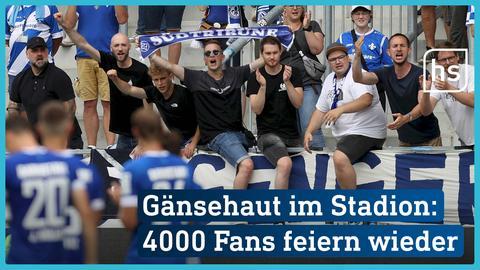 Fans feiern in Darmstadt