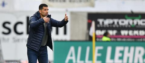 Dimitrios Grammozis vom SV Darmstadt 98 im Spiel gegen Heidenheim