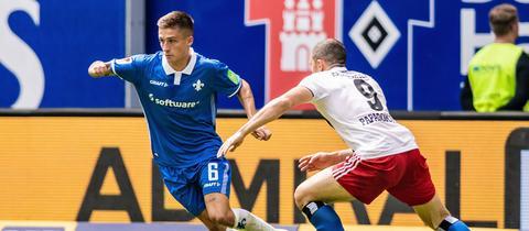 Marvin Mehlem von Darmstadt 98 im Spiel beim HSV