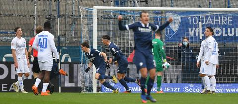 der VfL Bochum jubelt nach einem Tor gegen Darmstadt 98