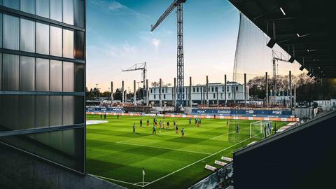 Das Darmstädter Stadion am Böllenfalltor