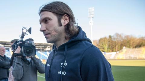 Torsten Frings bei seiner Vorstellung als neuer Lilien-Coach