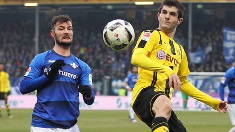 Marcel Heller im Spiel gegen den BVB