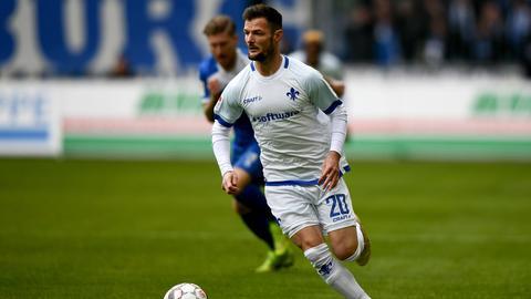 Marcel Heller im Spiel in Magdeburg