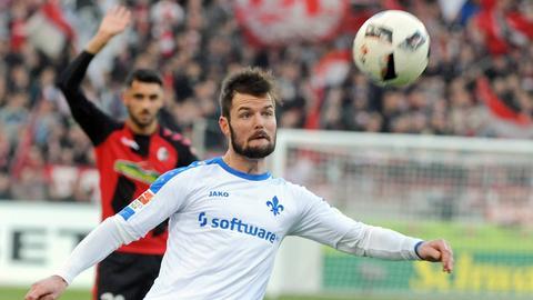 Marcel Heller beim Spiel in Freiburg