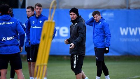 Dirk Schuster beim Training