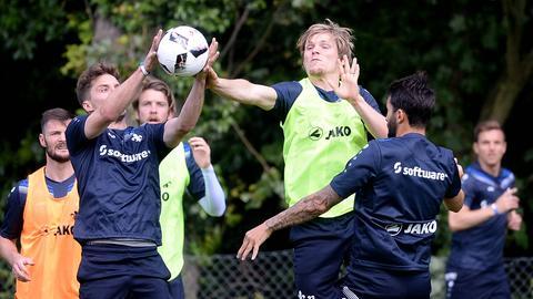 Sandro Sirigu, Florian Jungwirth und Aytac Sulu beim Lilien-Training