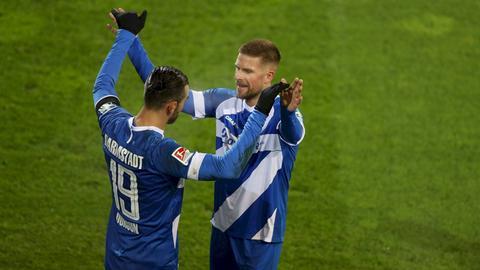 Serdar Dursun und Tobias Kempe vom SV Darmstadt 98