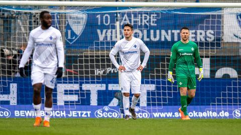 Enttäuschung bei Darmstadt 98 in Bochum