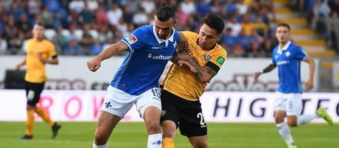 Serdar Dursun (Darmstadt 98) gegen Baris Atik (Dynamo Dresden)
