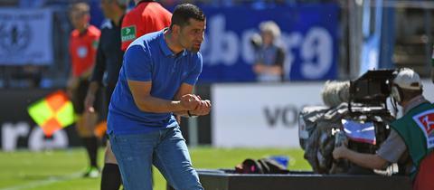 Lilien-Trainer Dimitrios Grammozis konnte mit dem Remis leben.