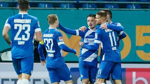 Jubel des SV Darmstadt 98 gegen den SV Sandhausen
