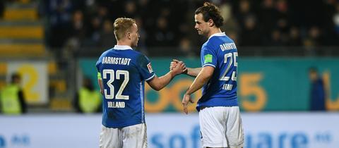 Der SV Darmstadt 98 im Spiel gegen Stuttgart