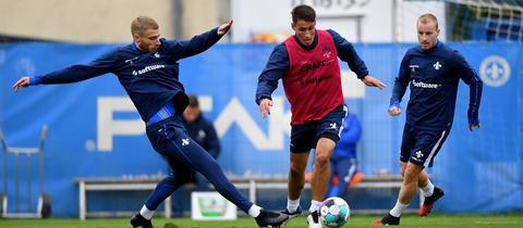 Felix Platte im Training des SV Darmstadt 98