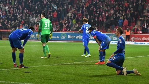 Darmstadts Spieler sind frustriert.