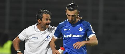 Dirk Schuster (li.) und Serdar Dursun