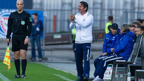 Lilien-Trainer Dirk Schuster bemängelte die Defensivleistung seiner Mannschaft.