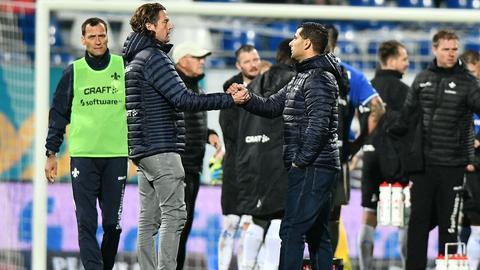 Carsten Wehlmann und Dimitrios Grammozis vom SV Darmstadt 98